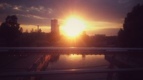 Coucher du soleil sur la rue Photographie stock