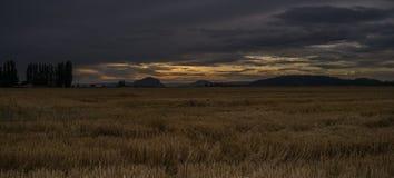 Coucher du soleil sur la vallée de Skagit Photo libre de droits