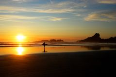 Coucher du soleil sur le compartiment de Cox Photographie stock libre de droits