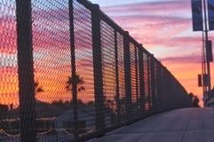 Coucher du soleil sur le coucher du soleil Image stock