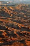 Coucher du soleil sur le désert Images stock
