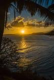 Coucher du soleil sur le Dauphin de fort Images stock