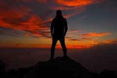 Coucher du soleil sur le dessus Photographie stock libre de droits