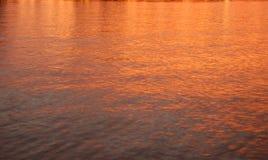 Coucher du soleil sur le fleuve de Fraser Photo libre de droits