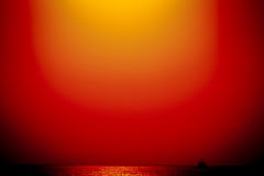 Coucher du soleil sur le Golfe de la Finlande Photos stock