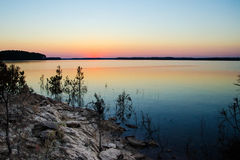 Coucher du soleil sur le lac hill de Clarkes Photos stock