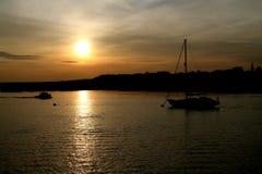 Coucher du soleil sur le Medway Photo libre de droits