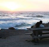 Coucher du soleil sur le Pacifique Photographie stock libre de droits