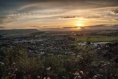 Coucher du soleil sur le paysage écossais photographie stock