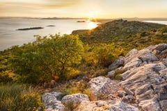 Coucher du soleil sur le point de vue d'ÄŒelinka Images stock