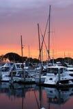 Coucher du soleil sur le port de San Diego photo libre de droits