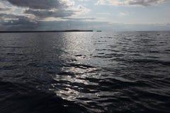 Coucher du soleil sur le réservoir Photographie stock libre de droits