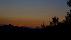 Coucher du soleil sur le sarde de Rocce Image stock