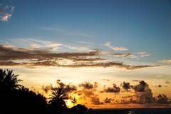 Coucher du soleil sur les îles Images stock