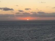 Coucher du soleil sur les Caraïbe Photo stock