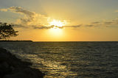 Coucher du soleil sur les clés de la Floride Photographie stock libre de droits