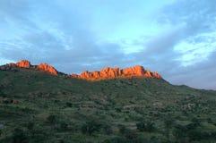 Coucher du soleil sur les falaises Images libres de droits