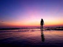 Coucher du soleil sur Marco Island Photographie stock