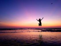 Coucher du soleil sur Marco Island Photos libres de droits