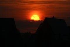 Coucher du soleil sur poelgeest Photo libre de droits