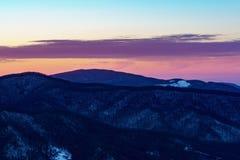 Coucher du soleil sur Roan Mountain Images stock
