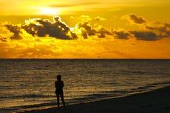 Coucher du soleil sur Sanibel Images libres de droits