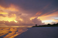 Coucher du soleil sur Sanibel Photo stock