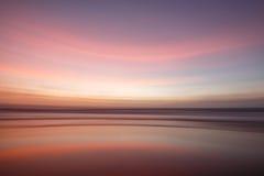 Coucher du soleil sur Sylt Image libre de droits