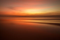 Coucher du soleil sur Sylt Image stock