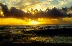 Coucher du soleil sur Troncoso Photographie stock libre de droits