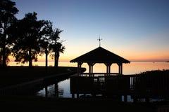 Coucher du soleil Tarpon Springs (FL) de belvédère photos stock