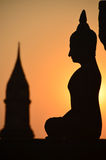 Coucher du soleil thaïlandais Photo stock