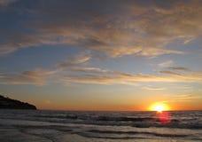 Coucher du soleil, Torrance Beach, Los Angeles, la Californie Photographie stock