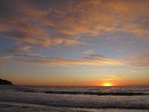Coucher du soleil, Torrance Beach, Los Angeles, la Californie Images libres de droits