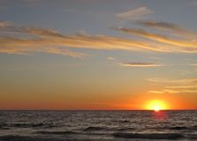 Coucher du soleil, Torrance Beach, Los Angeles, la Californie Photographie stock libre de droits
