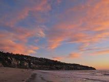 Coucher du soleil, Torrance Beach, Los Angeles, la Californie Photos stock