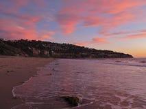 Coucher du soleil, Torrance Beach, Los Angeles, la Californie Photos libres de droits