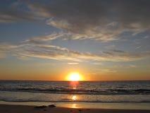 Coucher du soleil, Torrance Beach, Los Angeles, la Californie Photo stock