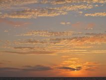 Coucher du soleil, Torrance Beach, Los Angeles, la Californie Image stock