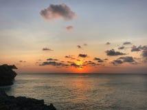 Coucher du soleil tranquille image libre de droits