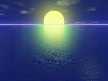 Coucher du soleil tranquille illustration de vecteur