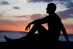 coucher du soleil tranquille Photographie stock libre de droits