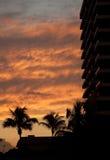 Coucher du soleil tropical Photographie stock libre de droits