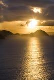 coucher du soleil tropical Photo stock