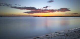 Coucher du soleil tropical au-dessus du Golfe du Mexique Photo libre de droits