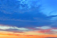 Coucher du soleil tropical d'or Photographie stock libre de droits