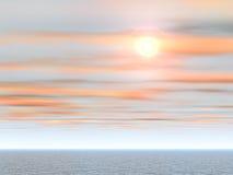 Coucher du soleil tropical de mer Photos stock