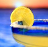 Coucher du soleil tropical de vacances Photographie stock