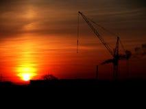 Coucher du soleil urbain Image libre de droits