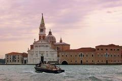 coucher du soleil Venise de l'Italie Photos libres de droits